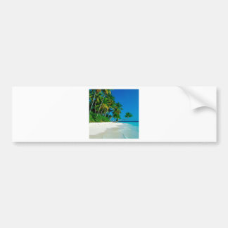 Paraíso perdido de la playa etiqueta de parachoque