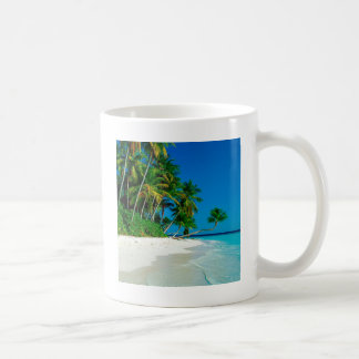 Paraíso perdido de la playa taza clásica