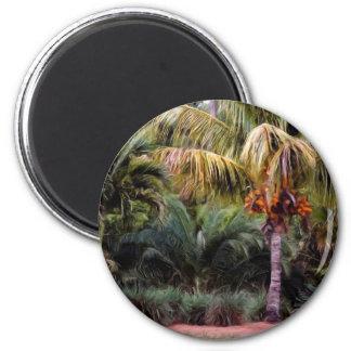 Paraíso pintado imán redondo 5 cm