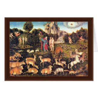 Paraíso por Cranach D. Ä. Lucas (la mejor calidad) Tarjetón
