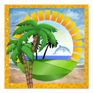 """Paraíso - resaca - SRF Invitación 5.25"""" X 5.25"""""""