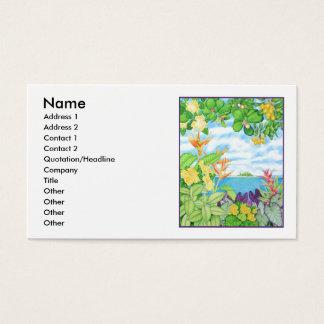Paraíso solitario tarjetas de visita