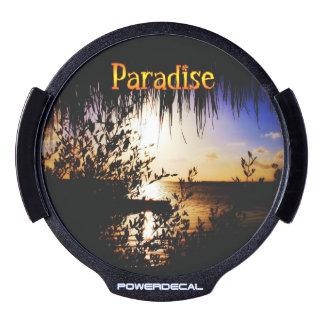 Paraíso Sticker LED Para Ventana