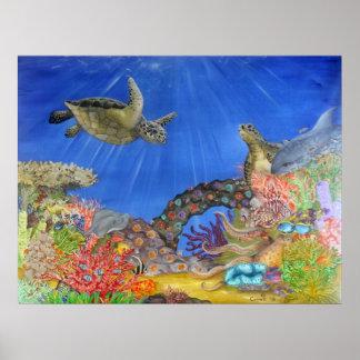 Paraíso subacuático impresiones