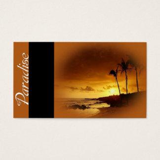 Paraíso - tarjetas de visita del viaje de las