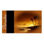 Paraíso - tarjetas de visita del viaje de las zona
