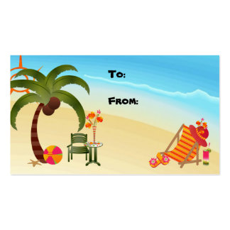 Paraíso tropical de la etiqueta del regalo tarjetas de visita