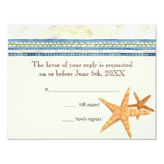 """Paraíso tropical de Shell - tarjetas de la Invitación 4.25"""" X 5.5"""""""