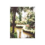 Paraíso tropical del jardín impresiones en lona