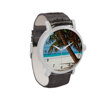 Paraíso tropical - día soleado en la playa relojes
