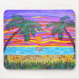 Paraíso tropical pacífico tapetes de ratón