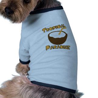 Paraíso tropical camiseta con mangas para perro