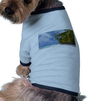 paraíso tropical camisa de mascota