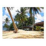 Paraíso tropical tarjeta postal