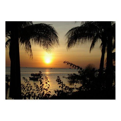 Paraíso tropical tarjetas de visita grandes