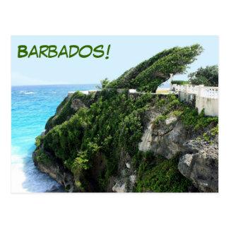 Paraíso ventoso de Barbados Postales