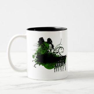 paraíso verde taza de dos tonos