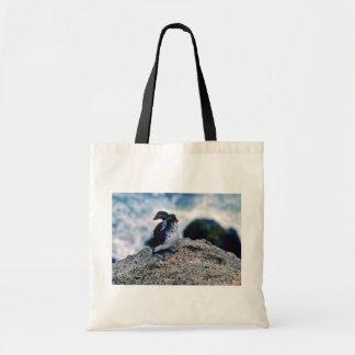Parakeet Auklets Tote Bags