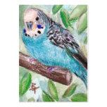 Parakeet azul ArtCard Tarjetas De Visita Grandes