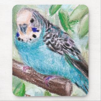 Parakeet azul Mousepad Alfombrillas De Ratón