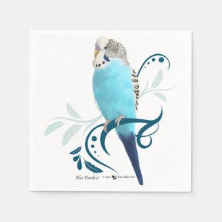 Parakeet azul servilleta de papel