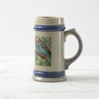 Parakeet azul Stein Tazas De Café