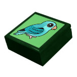 Parakeet barrado turquesa caja de joyas