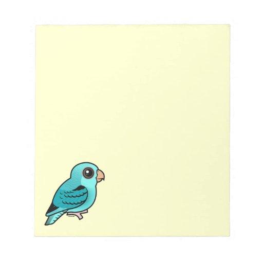 Parakeet barrado turquesa libreta para notas
