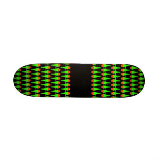 Parakeet Bird Pattern on Black Skate Board Deck
