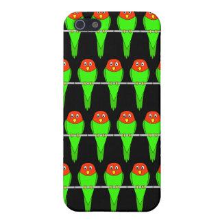 Parakeet Bird Pern on Black. iPhone SE/5/5s Case