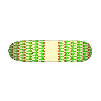 Parakeet Birds Pattern Custom Skateboard