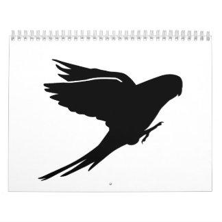 Parakeet budgie calendar
