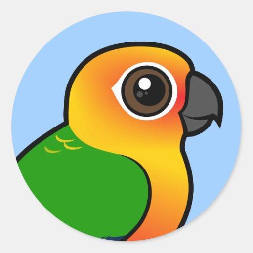 Parakeet de Birdorable Jandaya Pegatina Redonda