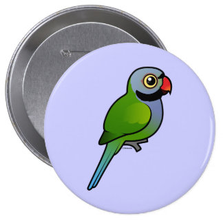 Parakeet de Derbyan Pin Redondo De 4 Pulgadas