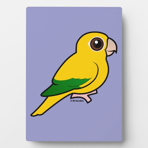 Parakeet de oro de Birdorable Placas Para Mostrar