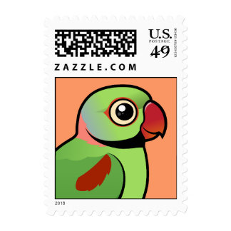 Parakeet del Alexandrine Franqueo