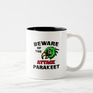 Parakeet del ataque taza de café