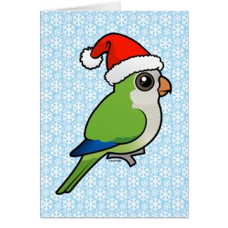 Parakeet del monje del navidad tarjeton