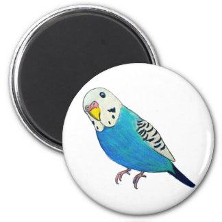 Parakeet Drawing 2 Inch Round Magnet