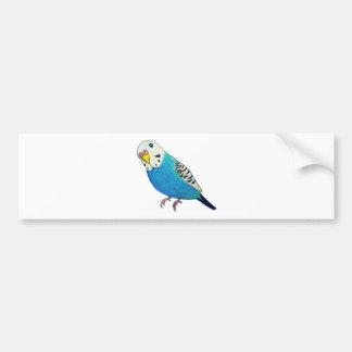 Parakeet Drawing Car Bumper Sticker