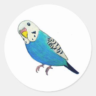 Parakeet Drawing Classic Round Sticker