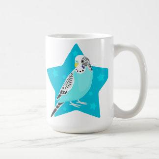 Parakeet dulce del pájaro tazas de café