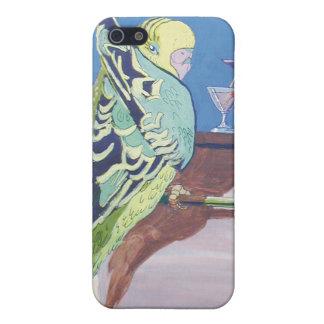 parakeet en la barra del cóctel en la playa iPhone 5 funda