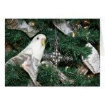 Parakeet in a Christmas tree Greeting Card