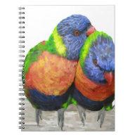 Parakeet Love Birds Note Books