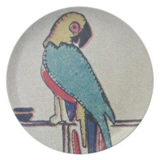 Parakeet Melamine Plate