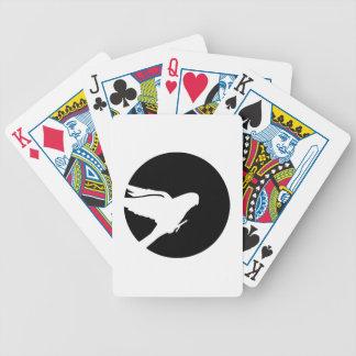 Parakeet moon bicycle playing cards
