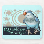Parakeet Mousepad del Quaker (azul) Alfombrillas De Ratones