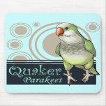 Parakeet Mousepad (verde) del Quaker Tapetes De Ratones