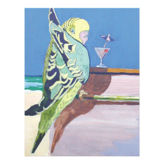 Parakeet painting Snooky: 'At the bar' Flyer
